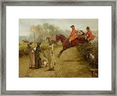 Watching The Hunt Framed Print by Mountain Dreams