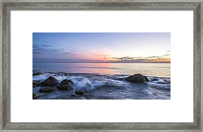Watching The Last Light Framed Print