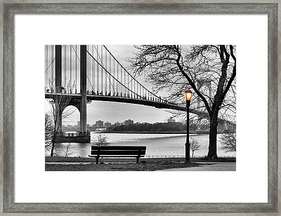 Watching The Nightfall  Framed Print