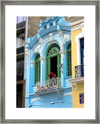 Watching The Politician - Sao Paulo Framed Print by Julie Niemela