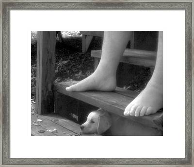 Watching The River Go By Framed Print by Jim Cook