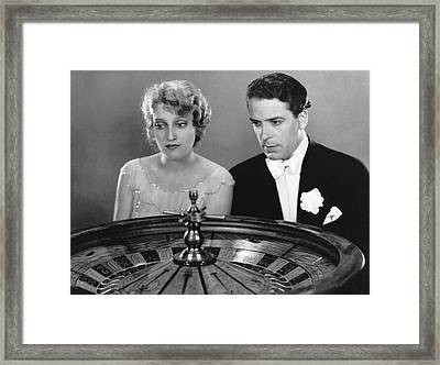 Watching The Roulette Wheel Framed Print by Underwood Archives