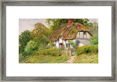 Watching The Sheep Framed Print by Arthur Claude Strachan