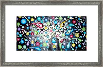 Watching The Shooting Stars Framed Print