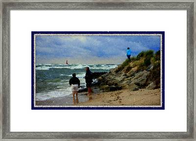 Watching The Storm Come In Framed Print by Rosemarie E Seppala