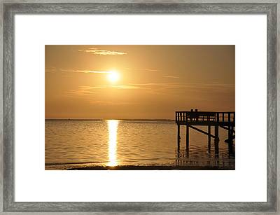 Watching The Sunset Framed Print by Bill Cannon