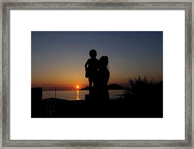 Watching The Sunset Framed Print by Ivelin Donchev