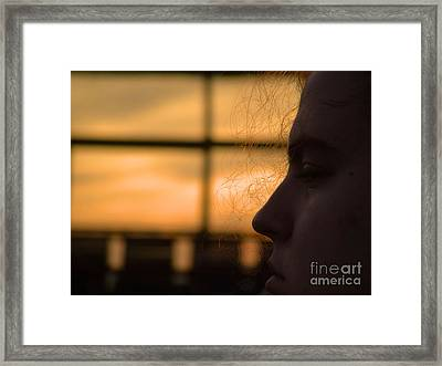 Watching The Sunset Framed Print by Robyn King