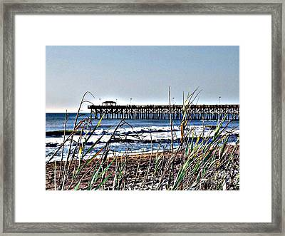 Watching The Tides Roll Away Framed Print by Angelia Hodges Clay