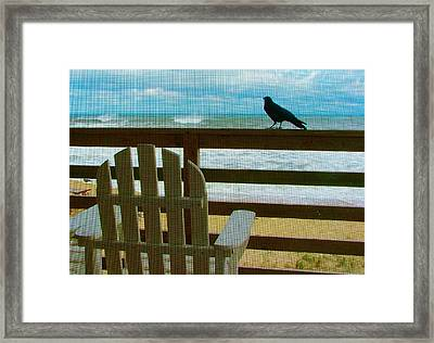 Watching The Waves Framed Print by Julie Dant
