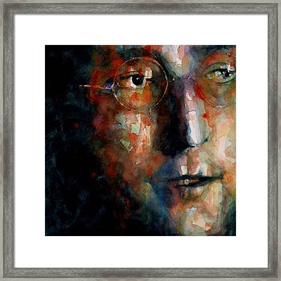 Watching The Wheels Framed Print by Paul Lovering