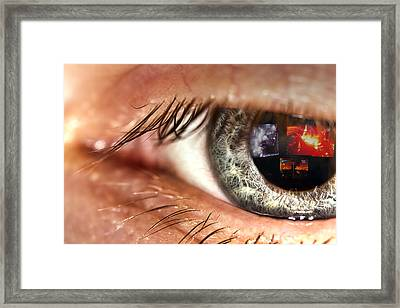 Watching The World Burn Framed Print by EXparte SE