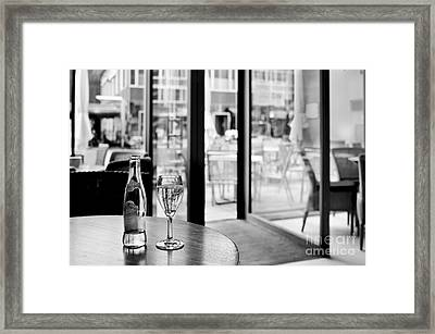 Watching The World Go By Framed Print by Juergen Klust