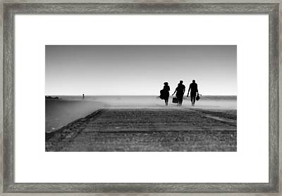 Watching Them Come And Go Framed Print