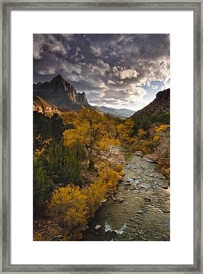 Watchman Sunset Framed Print by Joseph Rossbach