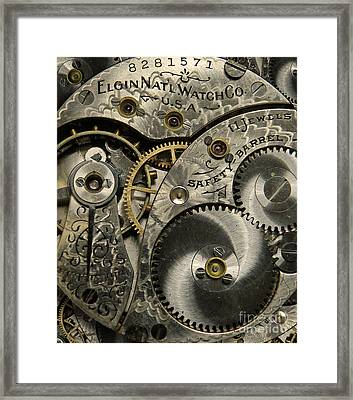 Watchworks Framed Print