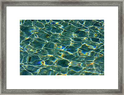 Water 2 Framed Print by Angela Bruno