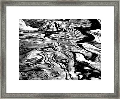 Water Abstract Framed Print by Deborah  Crew-Johnson