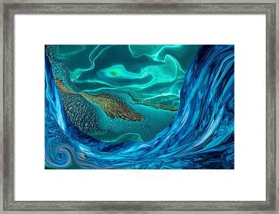 Water Abstract Fantasy Framed Print by Jenny Rainbow