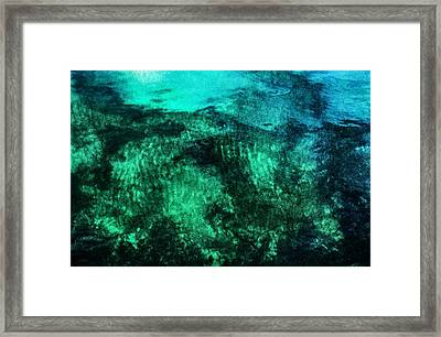 Water Abstraction Framed Print by Kim Lessel