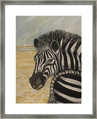 Water Ahead Framed Print by Anne Buffington