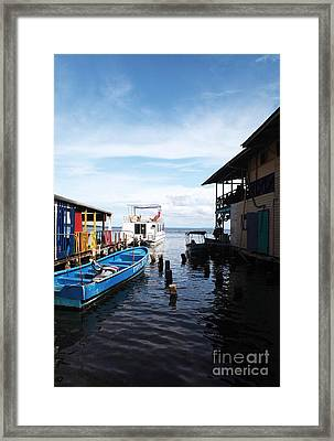 Water Alley In Bocas Town Framed Print