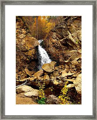 Framed Print featuring the photograph Water Always Gets Through by Kathy Bassett