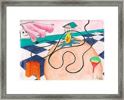 Water And Heat On The Kitchen Floor Framed Print