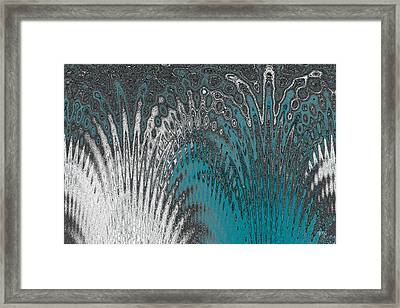 Water And Ice - Blue Splash Framed Print by Ben and Raisa Gertsberg