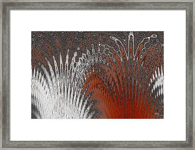 Water And Ice - Red Splash Framed Print
