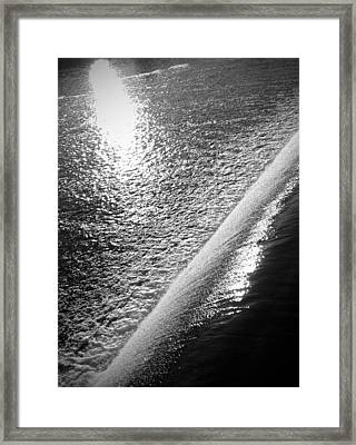 Framed Print featuring the photograph Water And Light by Photographic Arts And Design Studio