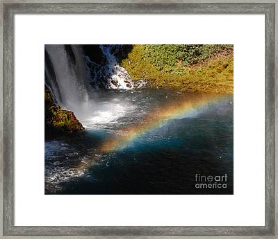 Framed Print featuring the photograph Water And Rainbow by Debra Thompson