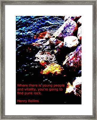 Water And Rock Framed Print by Mark Malitz