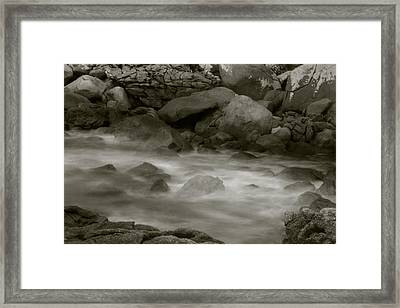 Framed Print featuring the photograph Water And Rocks by Amarildo Correa