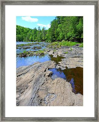 Water And Rocks Framed Print by F Salem