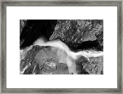 Water And Rocks Framed Print by Jagdish Agarwal