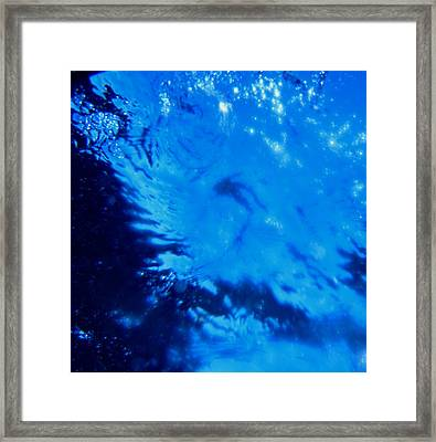 Water And Sky Framed Print by April Muilenburg