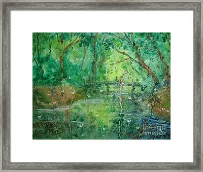 Water And Trees Framed Print