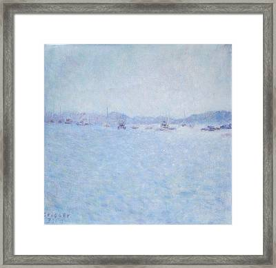Water At Cannes France Framed Print