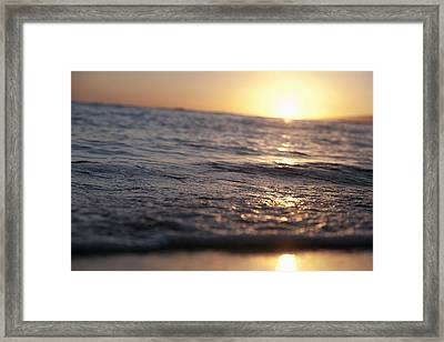 Water At Sunset Framed Print by Brandon Tabiolo