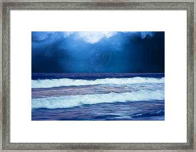 Water At The Shore Framed Print by Kellice Swaggerty