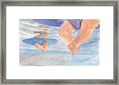 Water Babies Framed Print by Sheryl Heatherly Hawkins