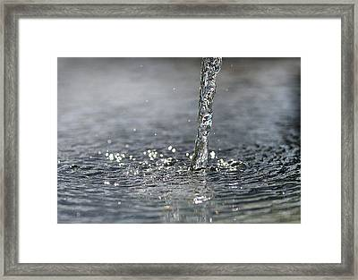 Water Beam Splashing Framed Print