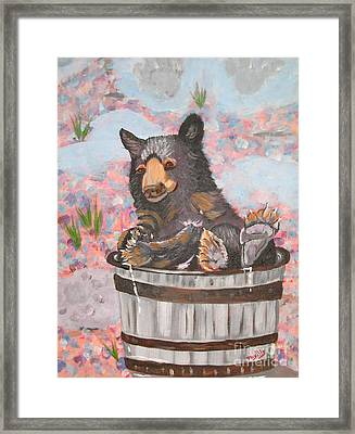 Framed Print featuring the painting Water Bear by Phyllis Kaltenbach