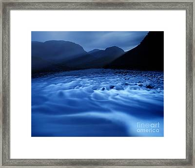 Water Blues Framed Print