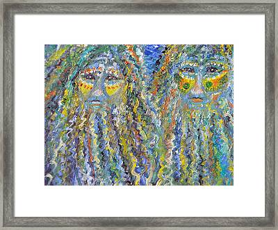Water Brothers Framed Print by Christy Usilton