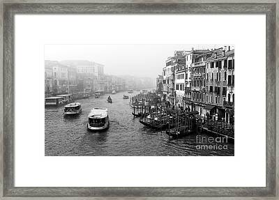 Water Bus On The Canal Framed Print