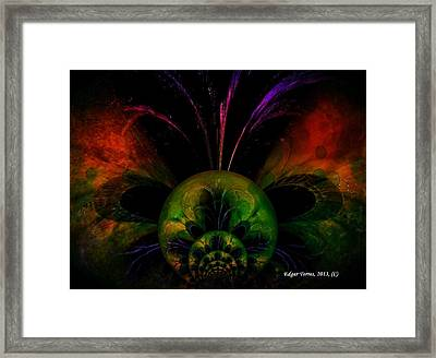 Water Butterfly Framed Print by Edgar Torres