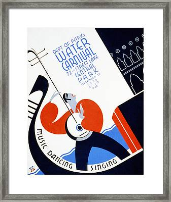 Water Carnival Poster 1936 Framed Print by Bill Cannon