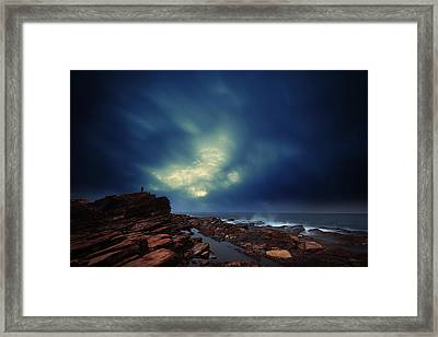 Framed Print featuring the photograph Water Cloud by Afrison Ma